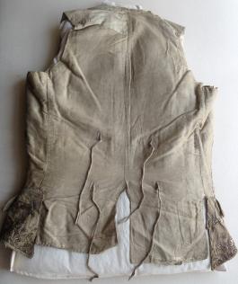 Reverse view, 1780-90 Waistcoat
