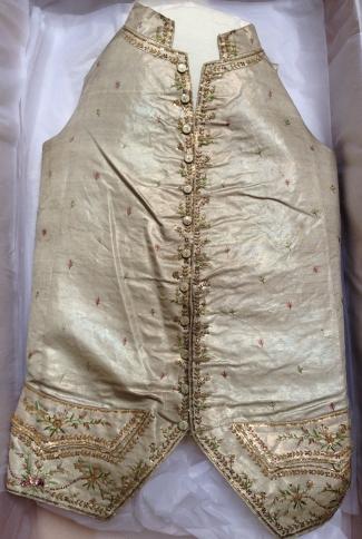 Silver lamè silk waistcoat, 1775-80
